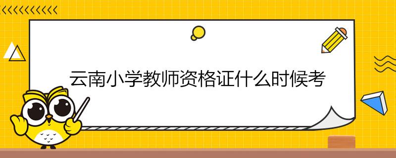 云南小学教师资格证什么时候考